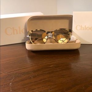 Chloe Tortoise Shell Sunglasses